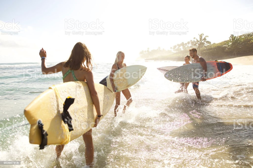 Good weather to surf stock photo