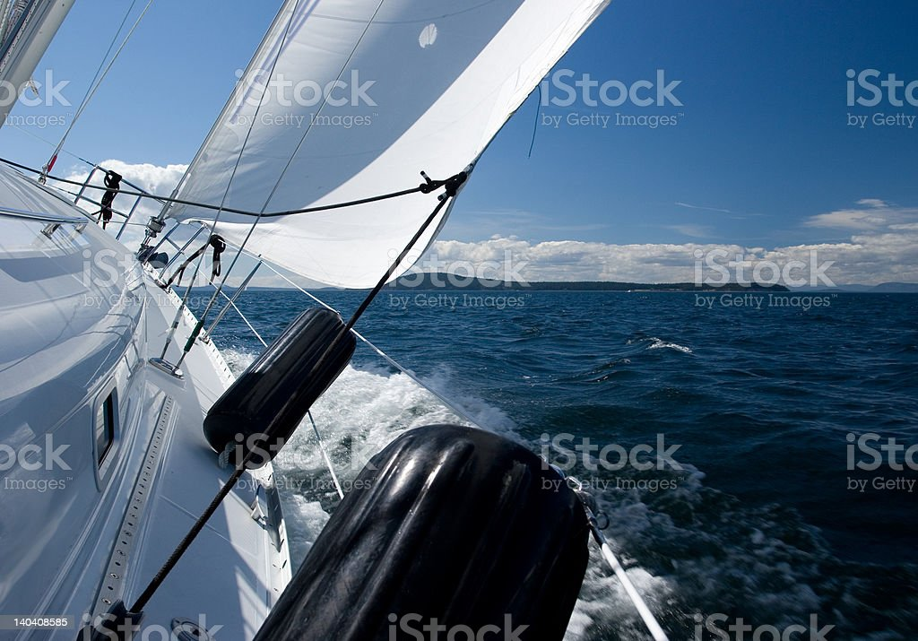 Good Wind in the San Juan Islands royalty-free stock photo