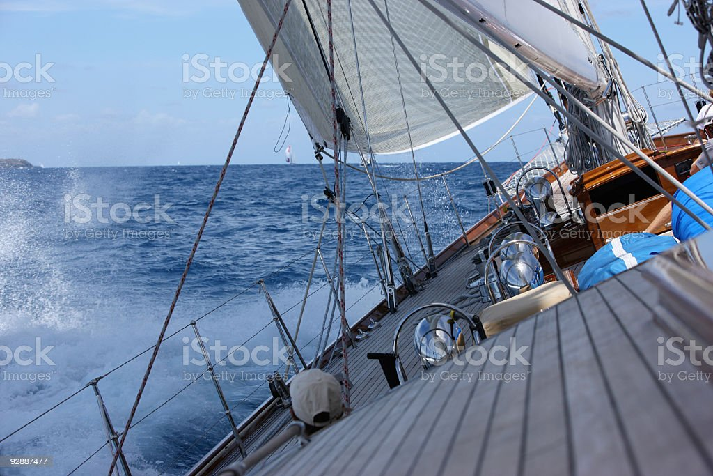 Good wind sailing at the regatta. royalty-free stock photo