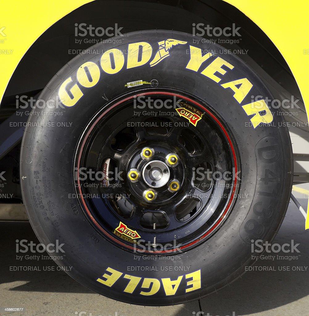 Good Year Racing tire stock photo