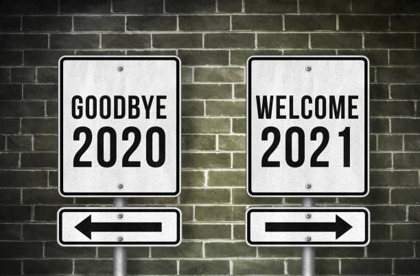 Goodbye 2020 and Welcome 2021 stock photo