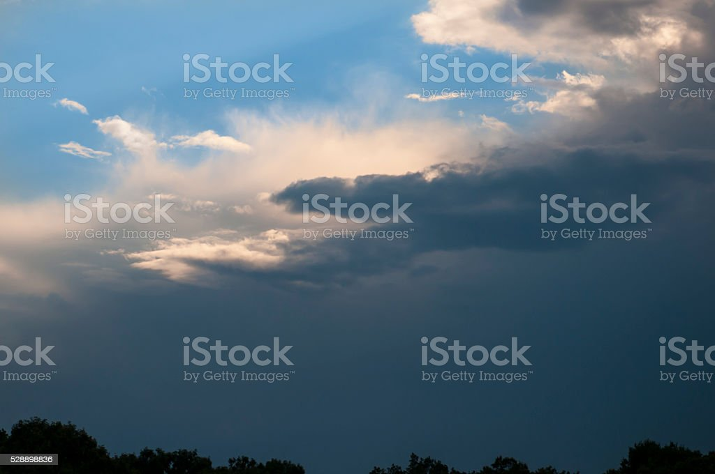 Goodbye blue skies stock photo