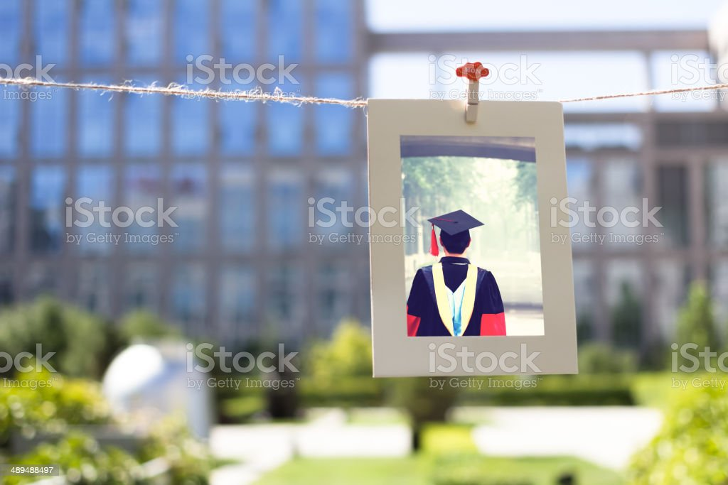 Goodbye My University stock photo