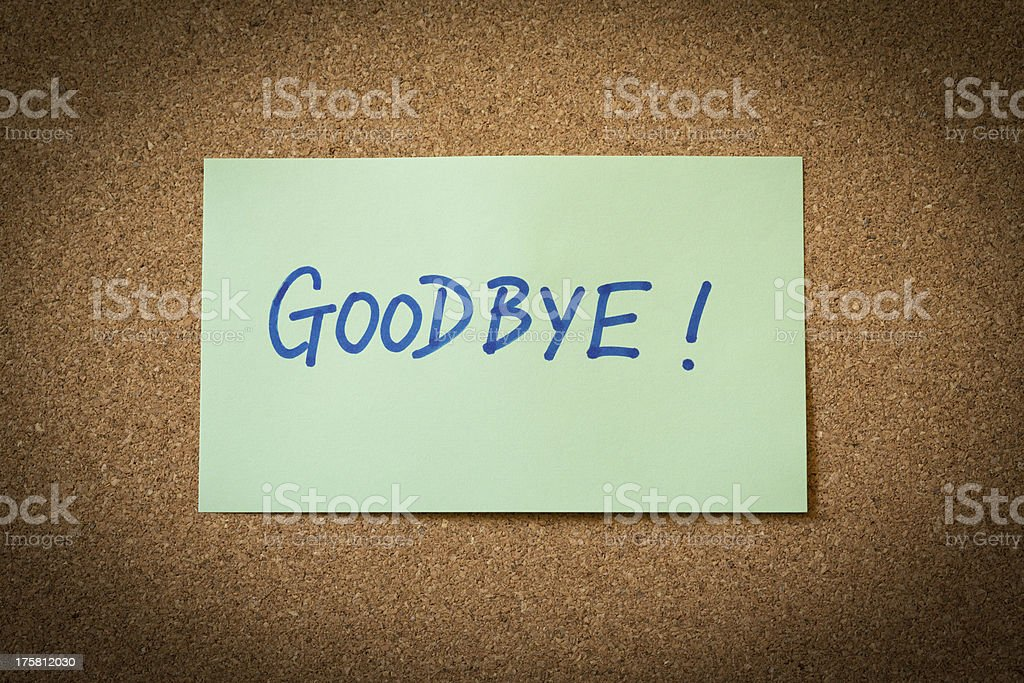 Goodbye royalty-free stock photo