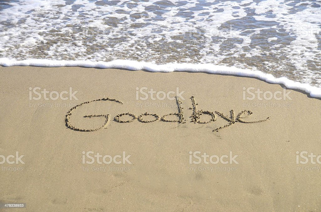 Goodbye stock photo
