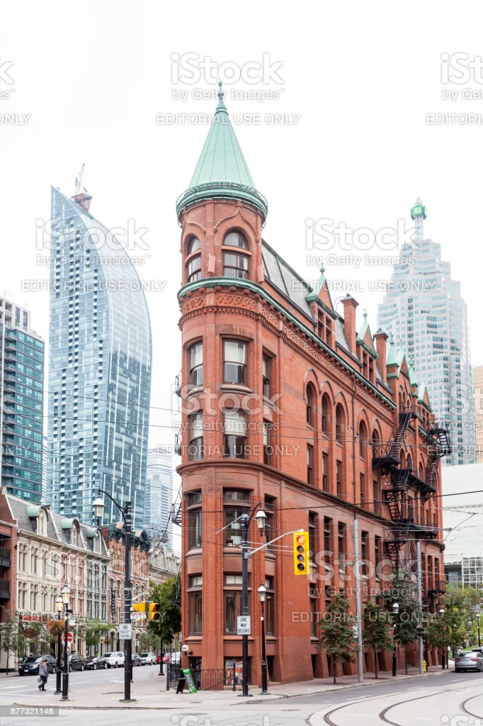 Gooderham Building in Toronto, Canada stock photo
