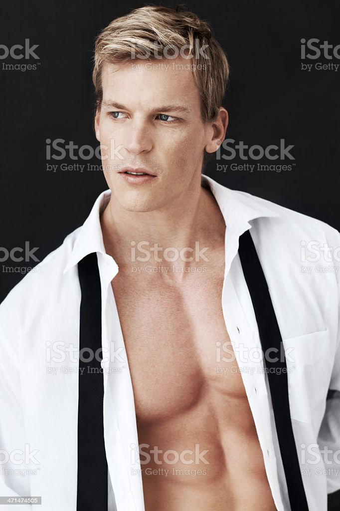 Good-looking and knowing it! stock photo
