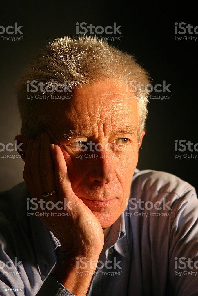 Goodlooking older gentleman royalty-free stock photo