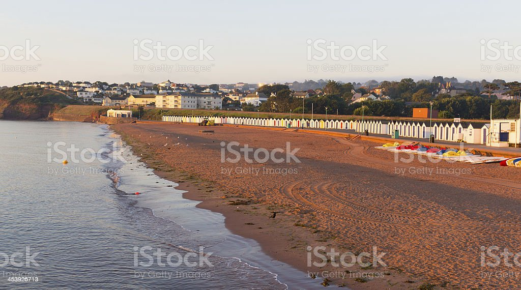 Goodrington beach near Paignton Devon England stock photo