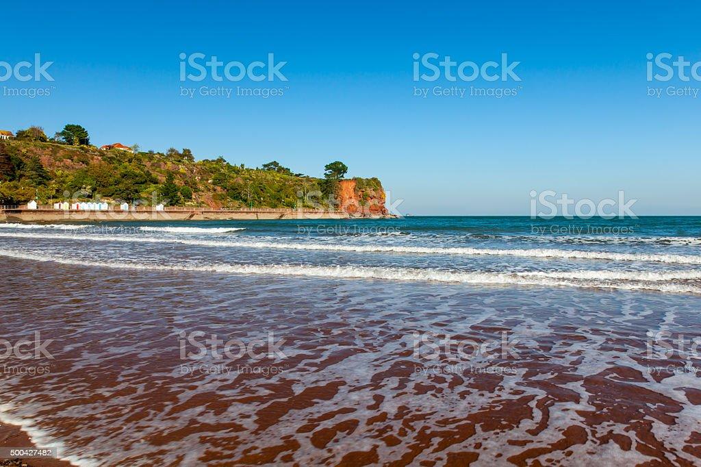 Goodrington Sands Beach Devon stock photo