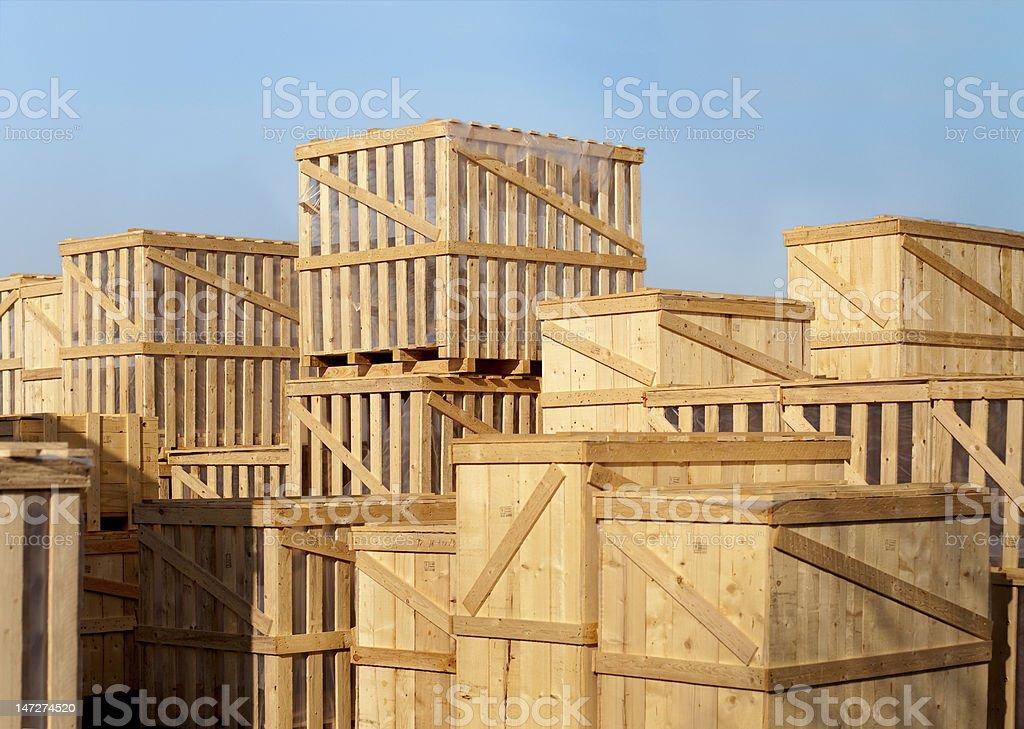 goods cases stock photo