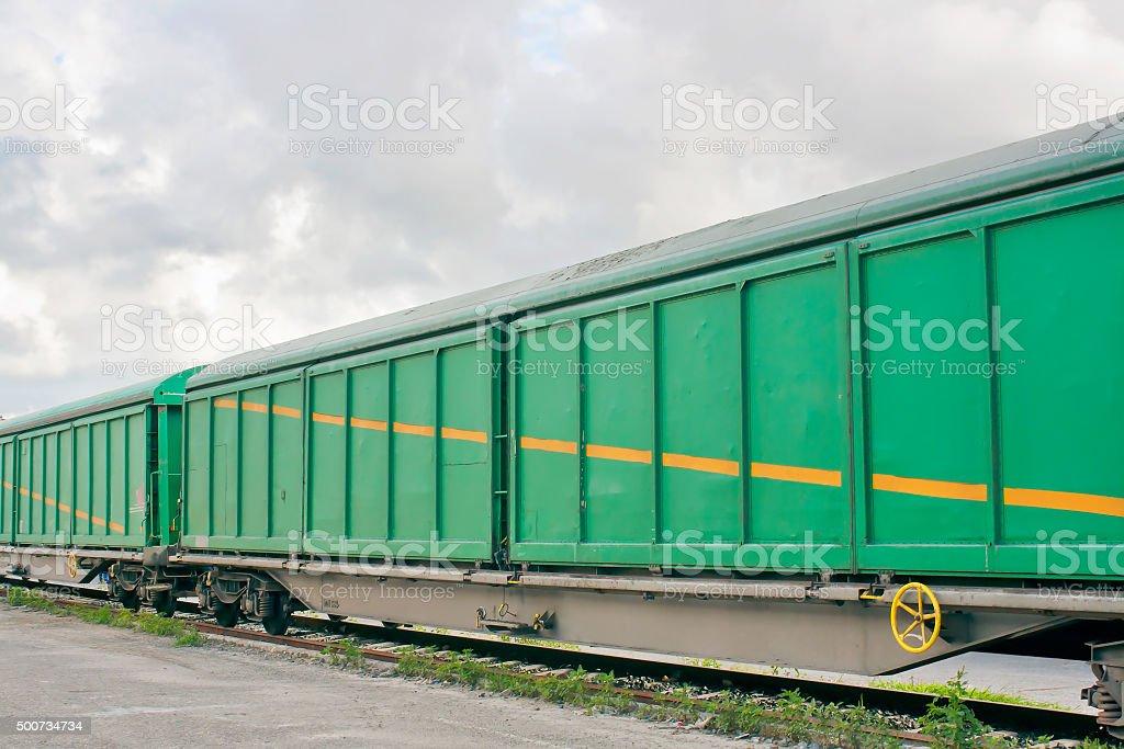 Goods train royalty-free stock photo