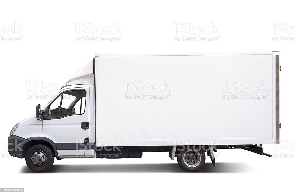Goods truck stock photo