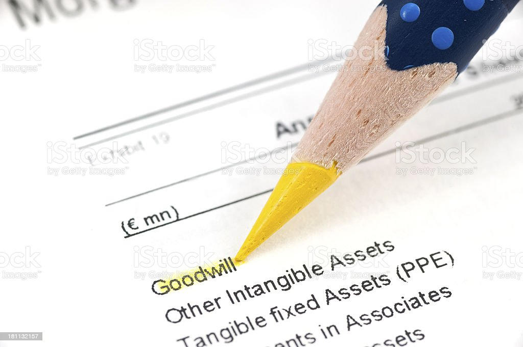 Goodwill highlighted stock photo