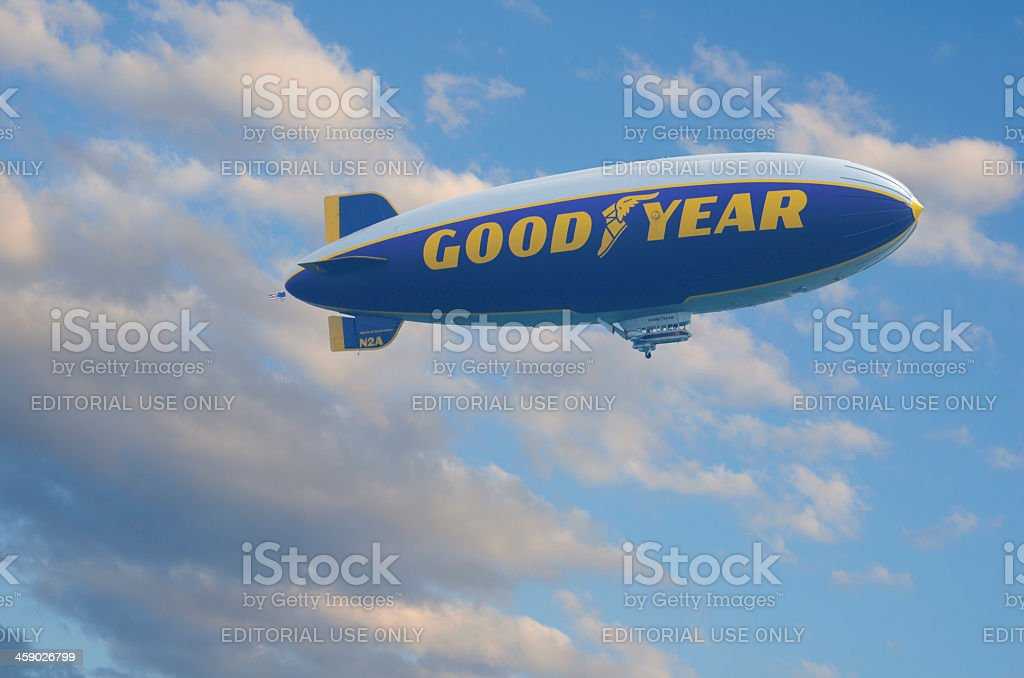 Goodyear Blimb stock photo