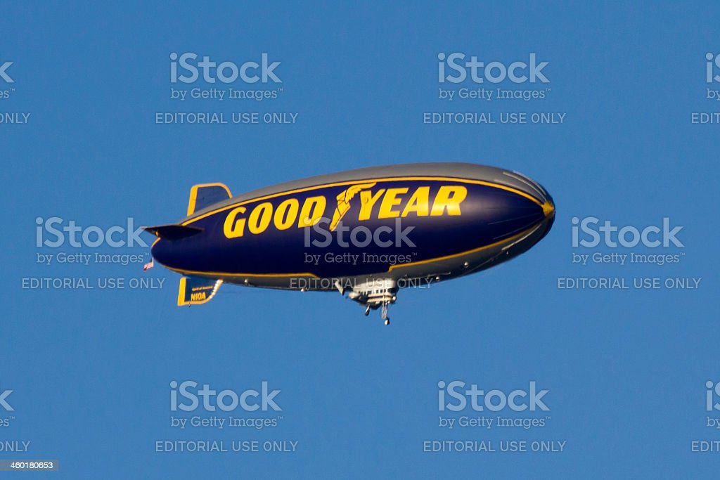 Goodyear blimp stock photo