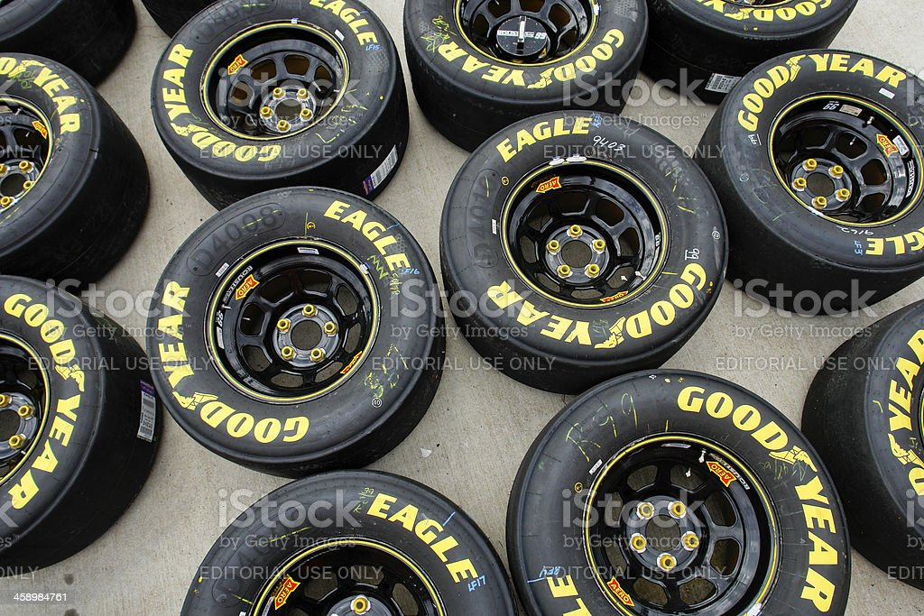 Goodyear Racing Tires And Wheels stock photo