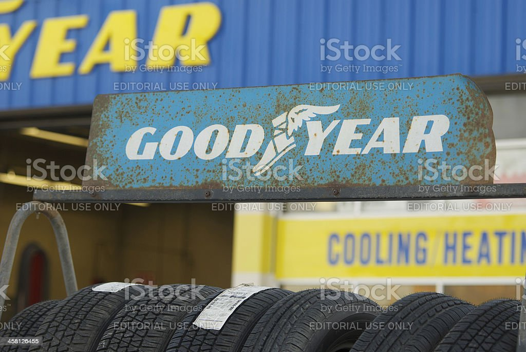 Goodyear Tire Rack Stock Photo More Pictures Of Auto Repair Shop