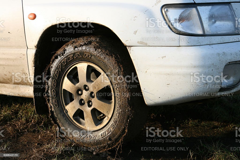Blagodatnoye, Russia - September 23, 2009: Goodyear Wrangler AT/R stock photo