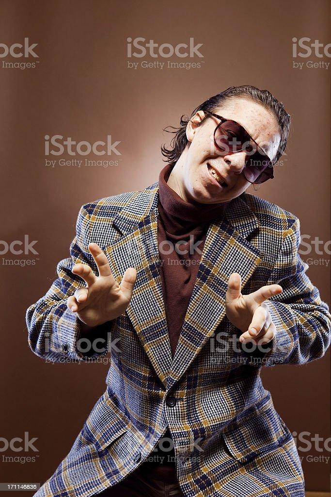 Goofy Businessman Portrait stock photo