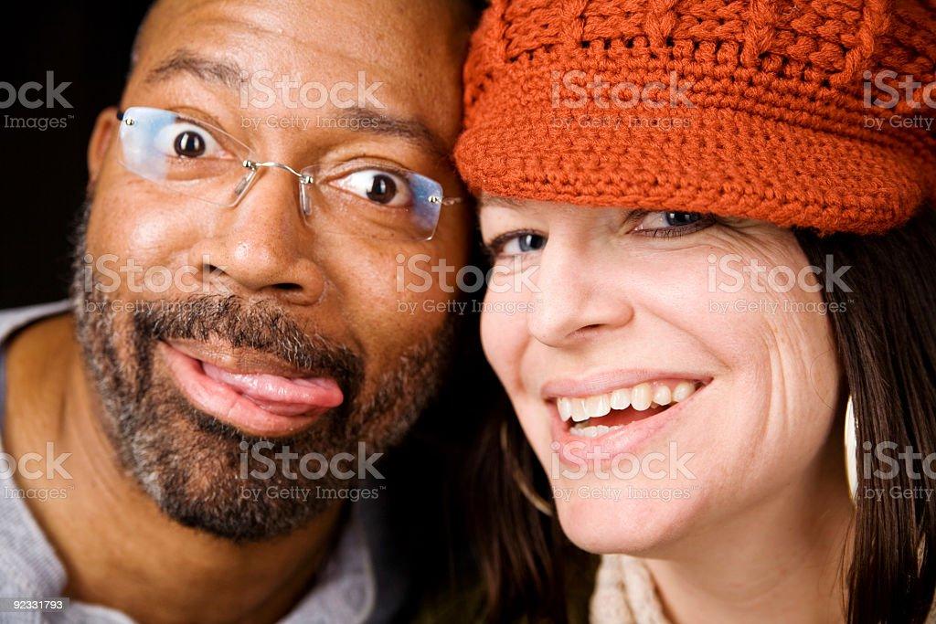 goofy couple royalty-free stock photo