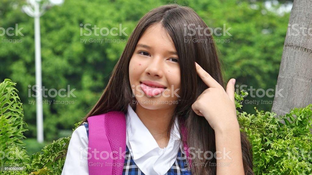 Goofy Minority Person stock photo