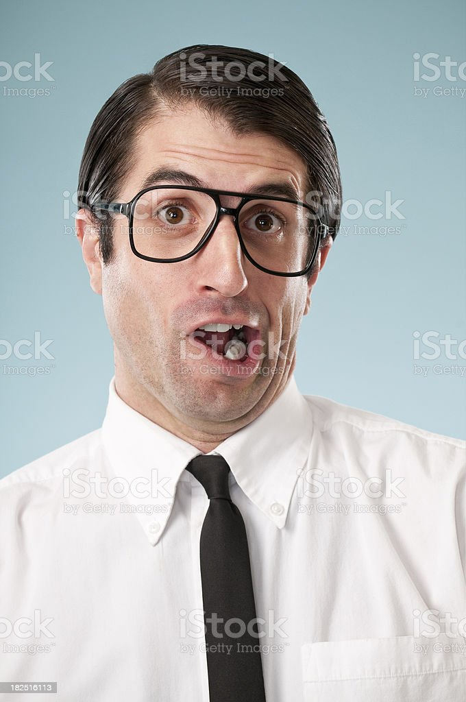 Goofy Nerdy Office Worker royalty-free stock photo