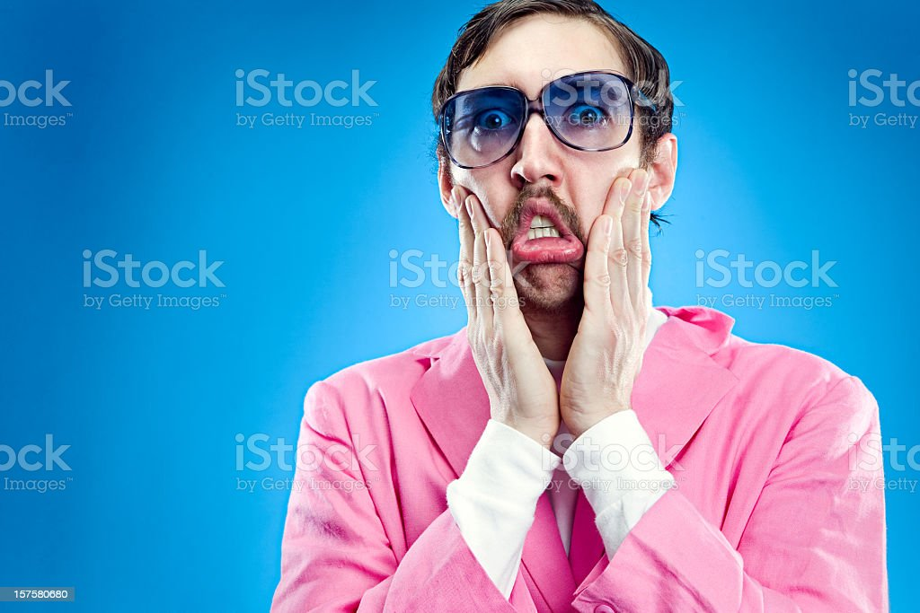 Goofy Pastel Retro Man royalty-free stock photo