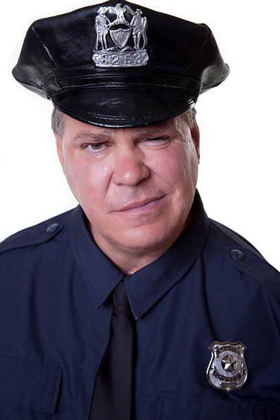 Goofy Policeman stock photo