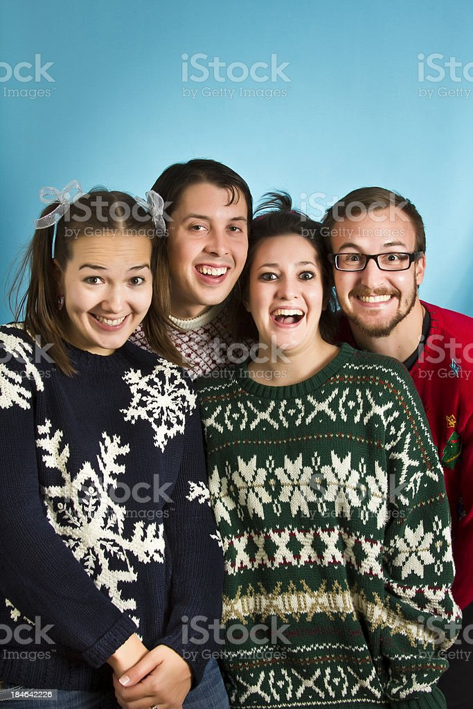 Goofy Sweater Nerds royalty-free stock photo