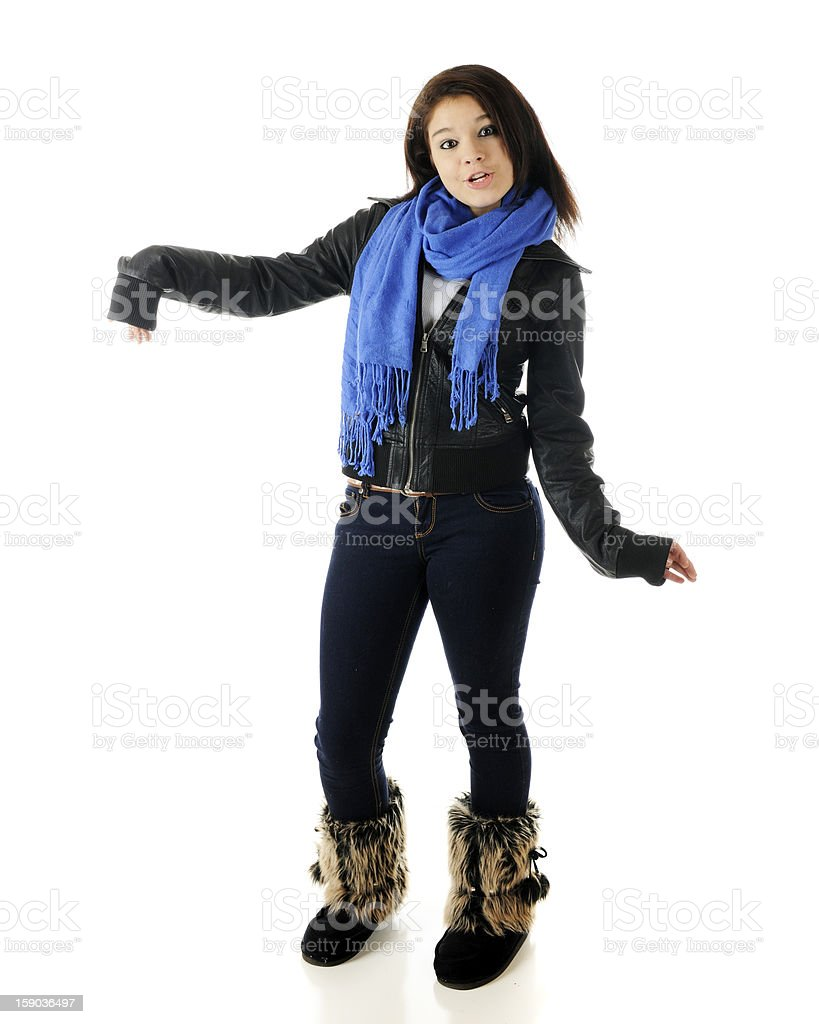 Goofy Young Teen royalty-free stock photo