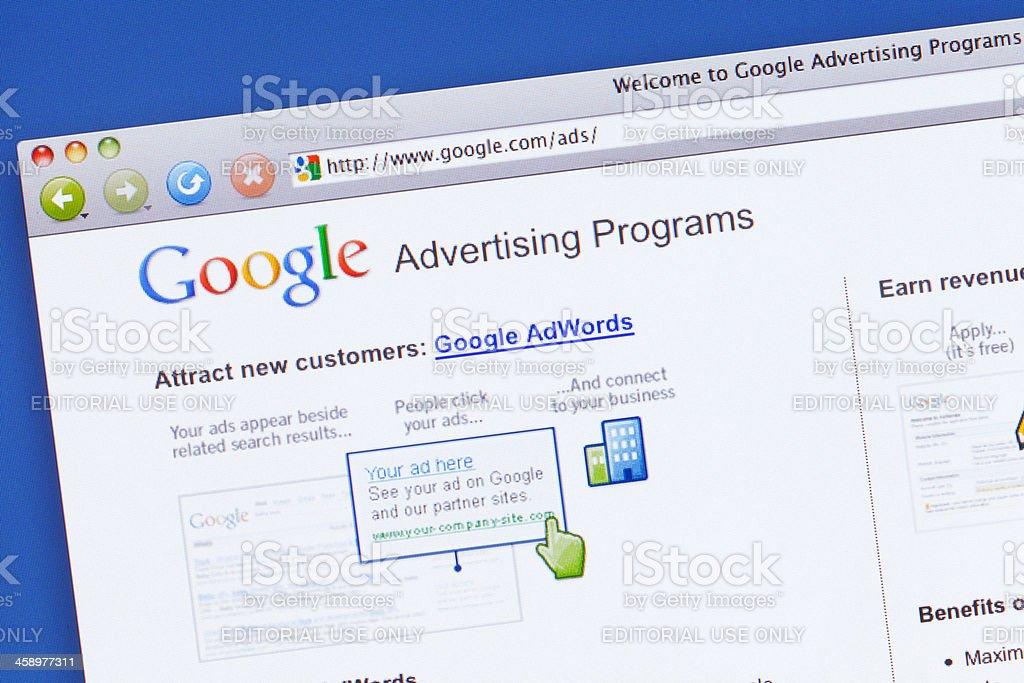 Google Ads stock photo