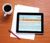 istock Google Analytics on iPad 458607447