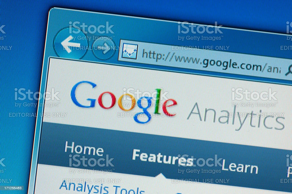 Google Analytics Web Page royalty-free stock photo