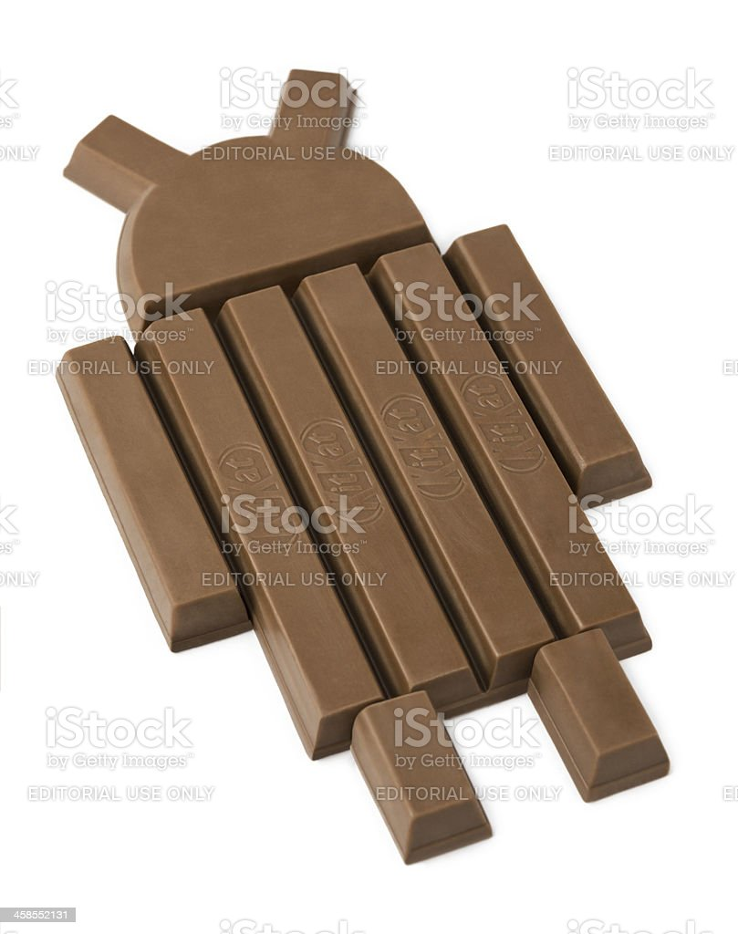 Google Android Kit Kat stock photo