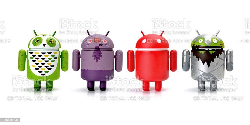 Google Android phone characters royalty-free stock photo