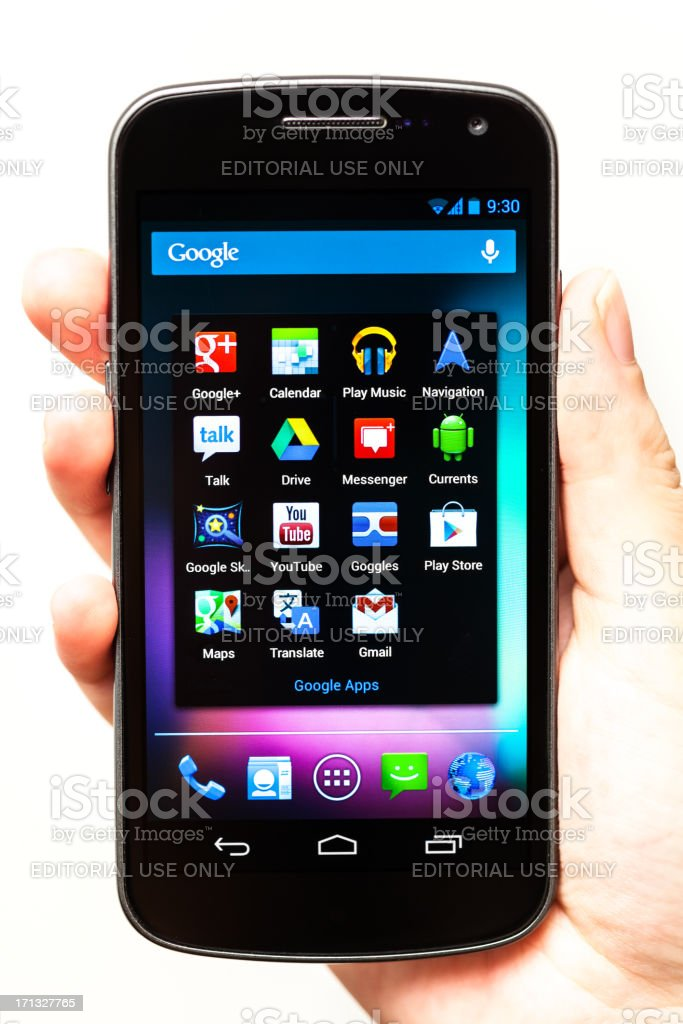 Google Apps On Samsung Galaxy Nexus With Android Jelly Bean Stock
