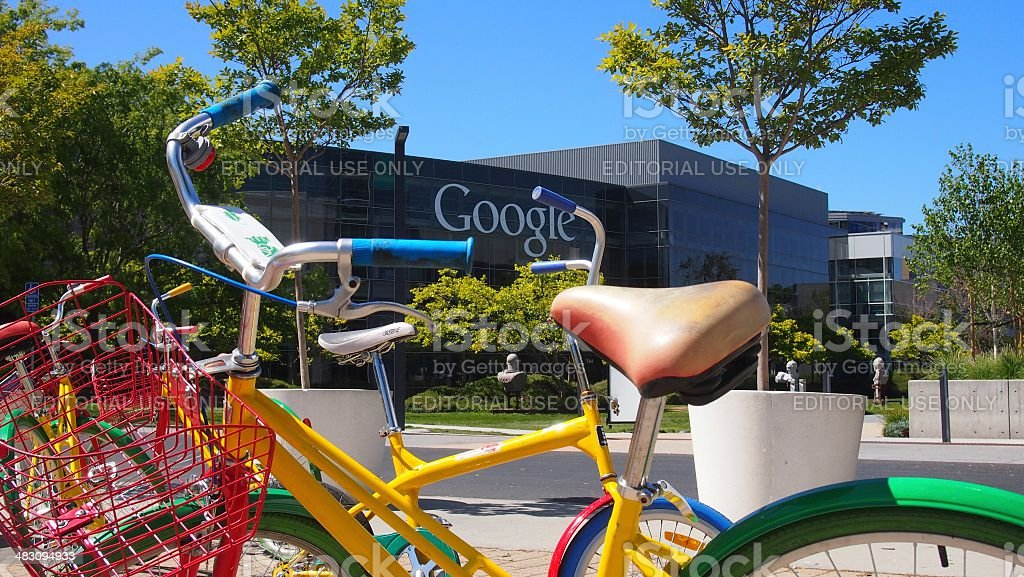 Google bikes stock photo