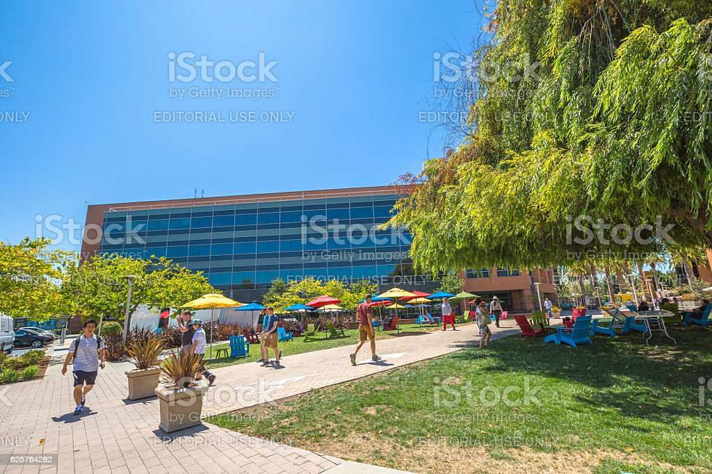 Google Building courtyard stock photo
