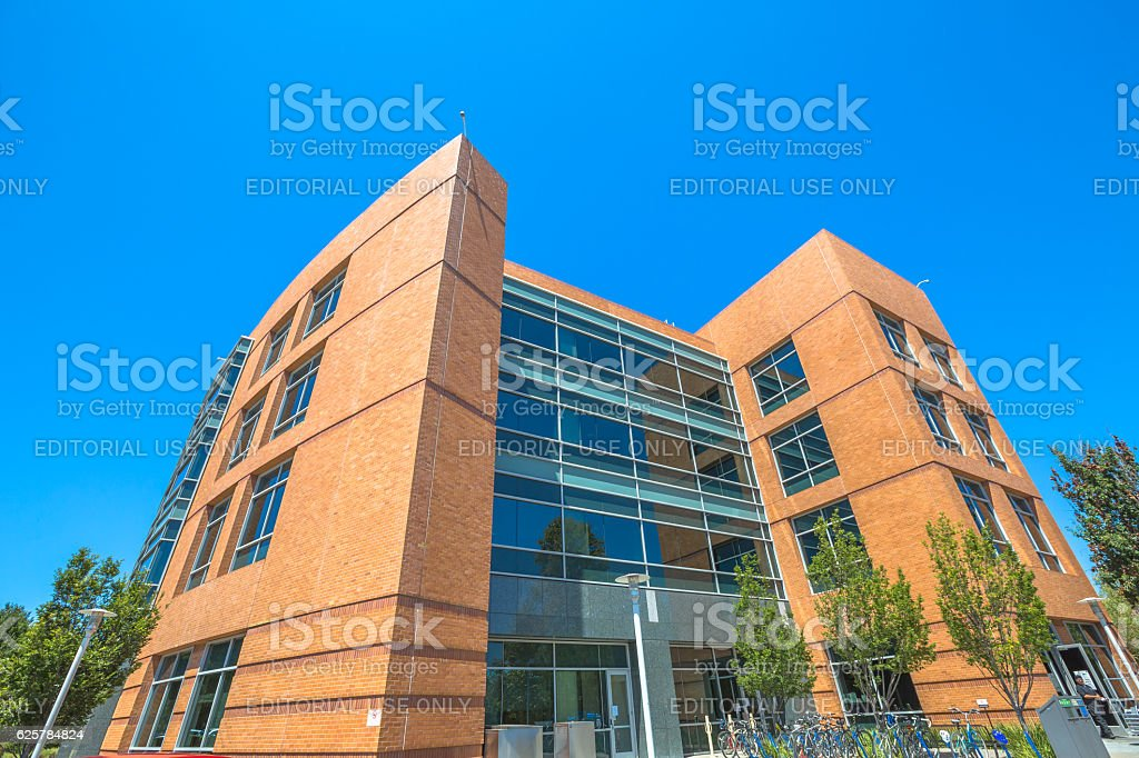 Google building Silicon Valley stock photo