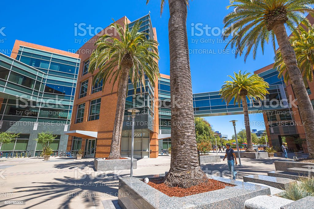 Google buildings 2000 stock photo