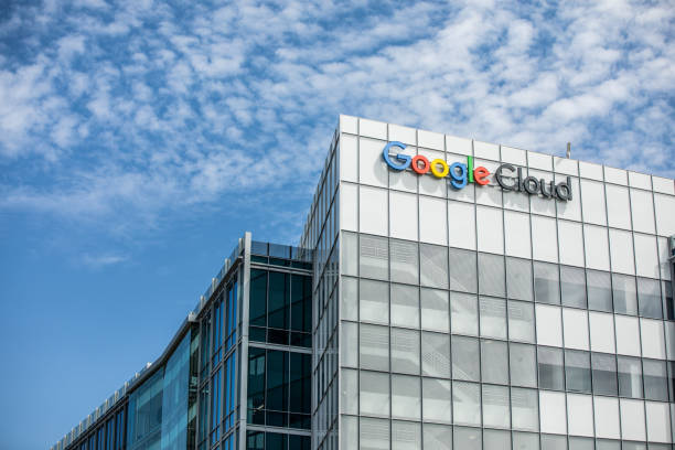 Google Cloud Buildings in Silicon Valley stock photo