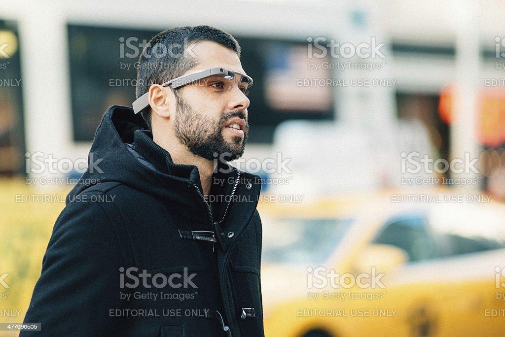 Google Glass New York royalty-free stock photo