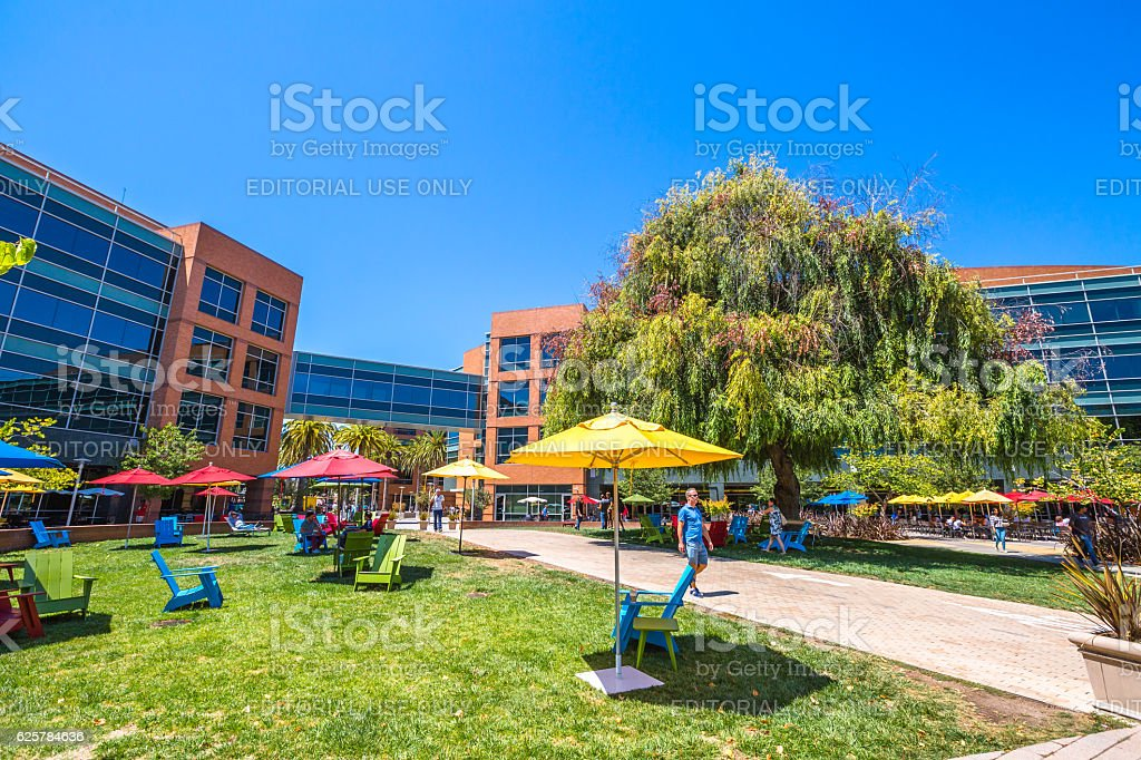 Google headquarters California stock photo