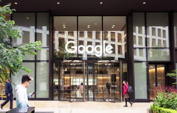 Google headquarters in London stock photo