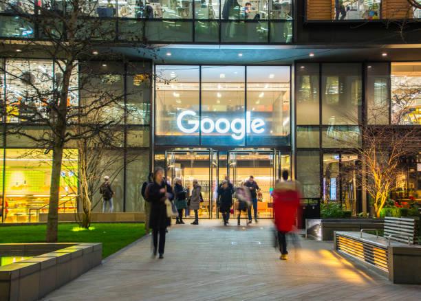 Sede de Google, Londres Reino Unido - foto de stock