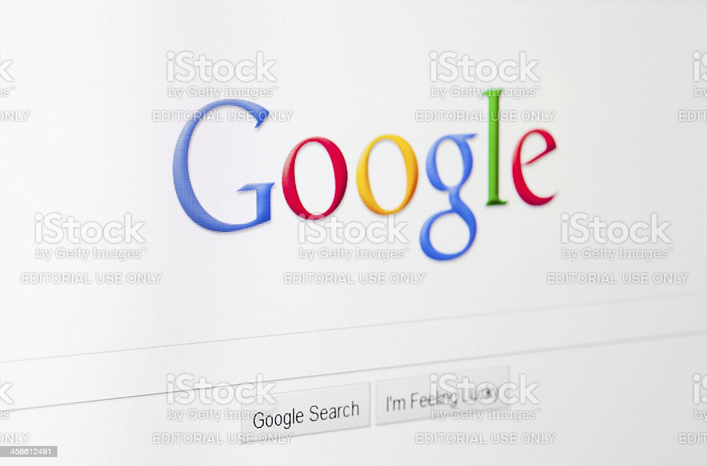 Google home page stock photo