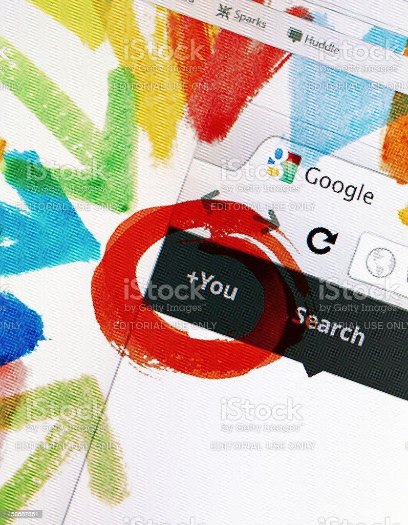 Google+ Homepage royalty-free stock photo