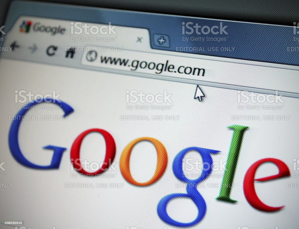 Google Internet Search Website royalty-free stock photo