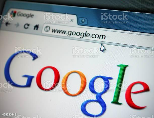 Google Internet-Website - Lizenzfrei Cloud Computing Stock-Foto